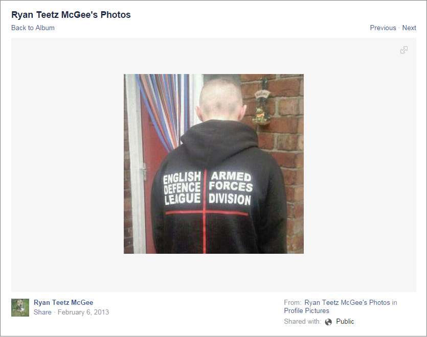 Ryan McGee EDL Armed Forces Division