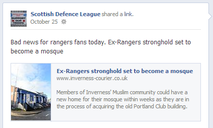 SDL on Inverness mosque