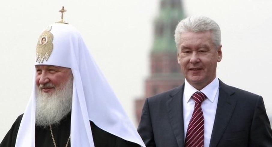 Sergei Sobyanin with Patriarch