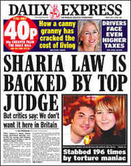 Sharia law is backed by top judge