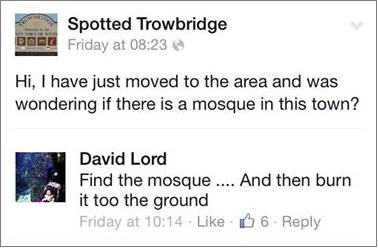 Spotted Trowbridge arson threat
