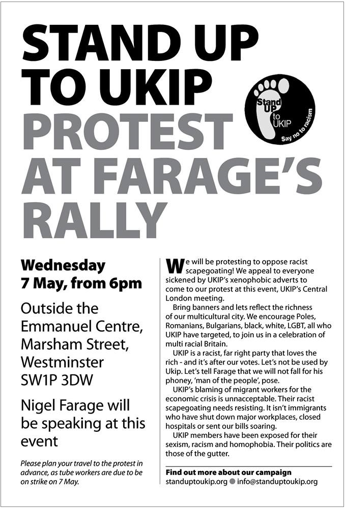 Stand Up to UKIP protest