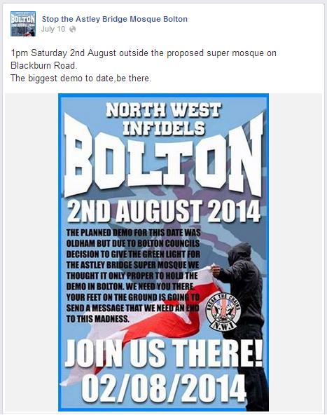 Stop the Astley Bridge Mosque Bolton backs NWI protest