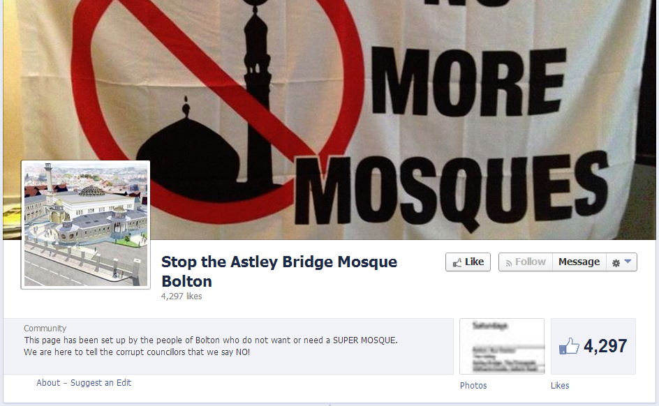 Stop the Astley Bridge Mosque Bolton
