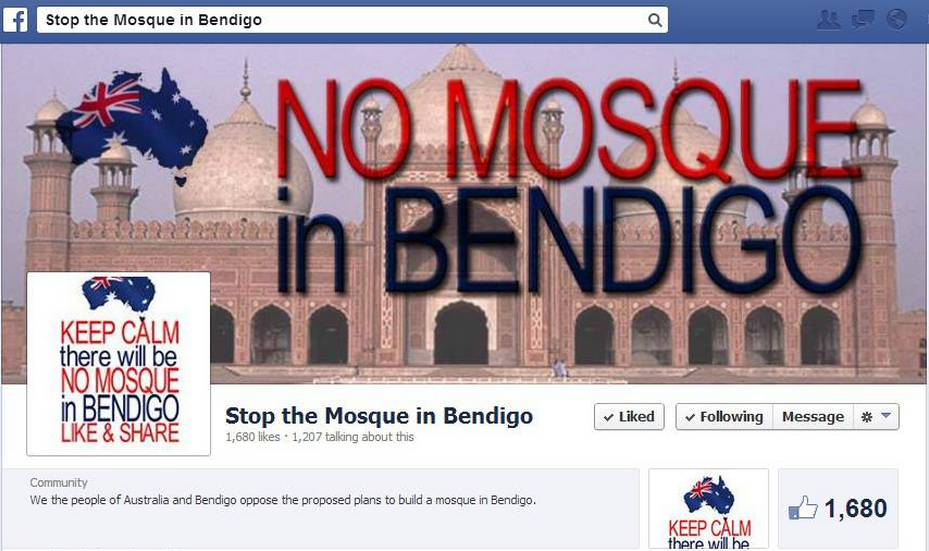 Stop the Mosque in Bendigo campaign