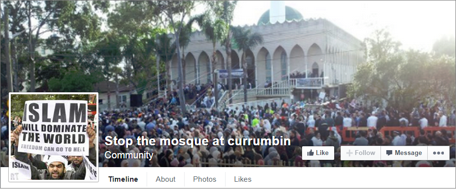 Stop the mosque at currumbin
