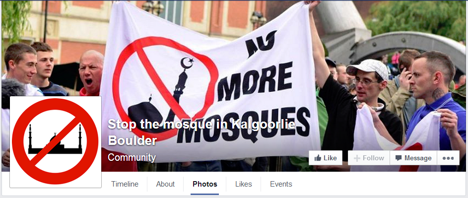 Stop the mosque in Kalgoorlie Boulder