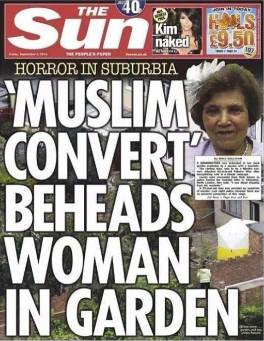 Sun Muslim Convert Beheads Woman