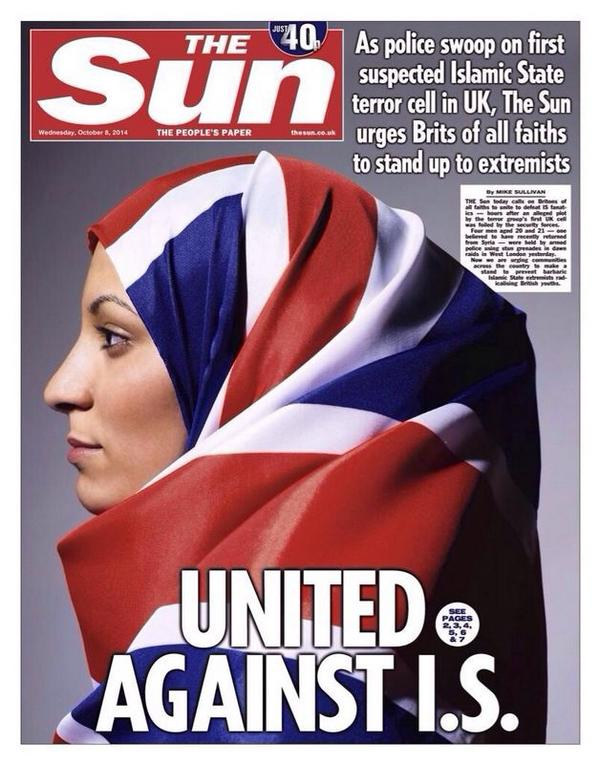 Sun United Against ISIS front page