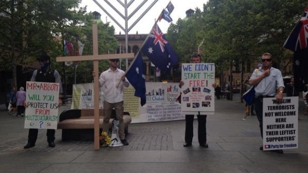Sydney Party for Freedom anti-Muslim protest