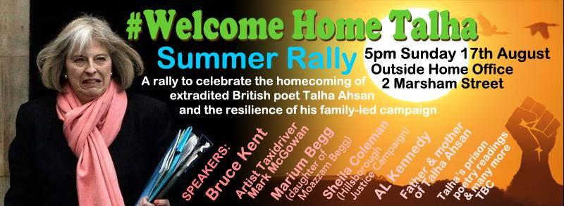 Talha Ahsan rally