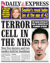 Terror cell in the NHS
