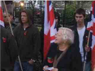Tess Culnane at NF Remembrance Day march 2007