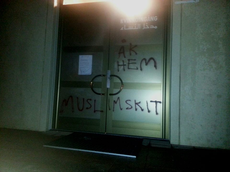 Uppsala mosque graffiti (2)