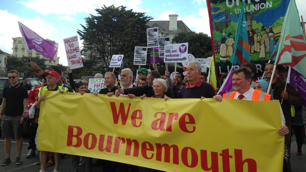 We Are Bournemouth counter-protest