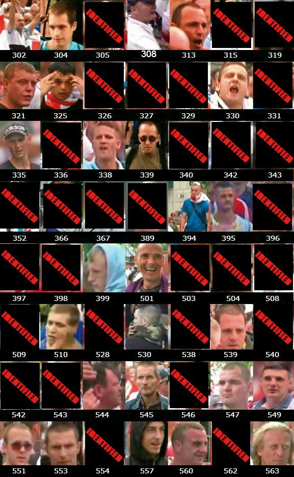 West Midlands Police EDL Birmingham protest wanted list
