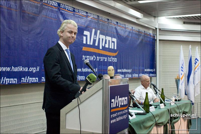 Wilders in Tel Aviv