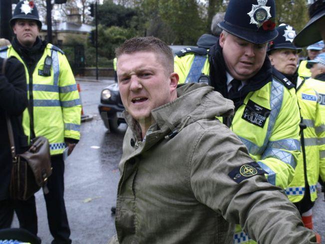 Yaxley Lennon arrest
